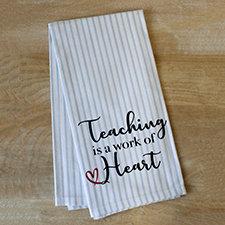 Work of Heart Pinstripe Hand Towel