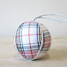 Plaid Tidings Ball Ornament