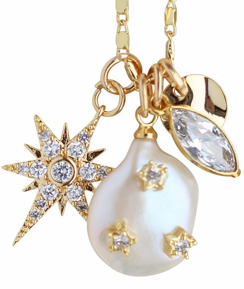 Pearl Charmy Necklace