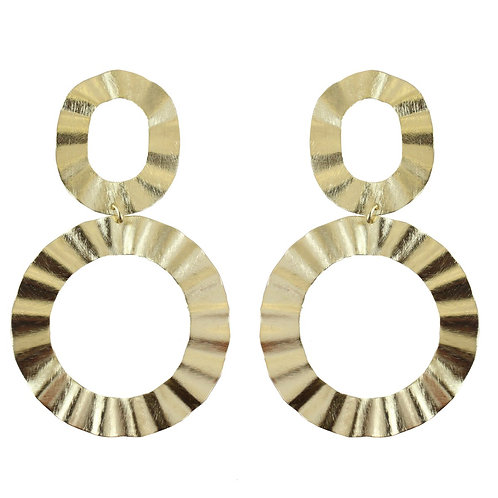 Alice Wavy Circle Earrings