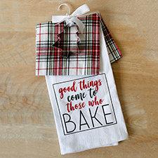 Plaid Tidings Hand Towel Gift Set