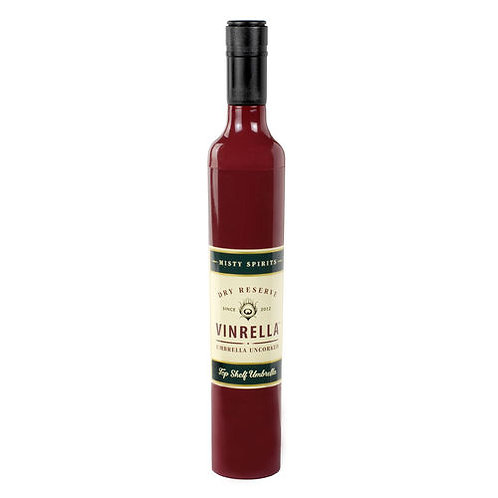 Wine Bottle Umbrella Burgundy Label