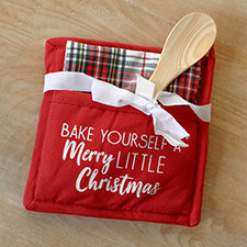 Plaid Tidings Pot Holder Gift Set