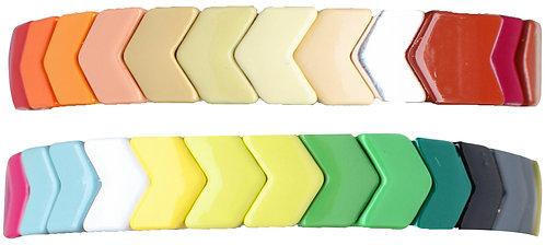 Rainbow Chevron Bracelet Set