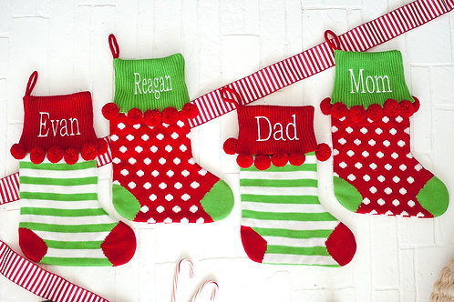 Pom-Pom Knit Stocking