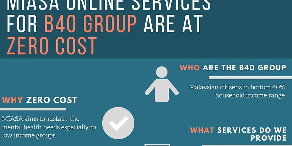 Everyone matters: MIASA online services for B40 group at zero cost