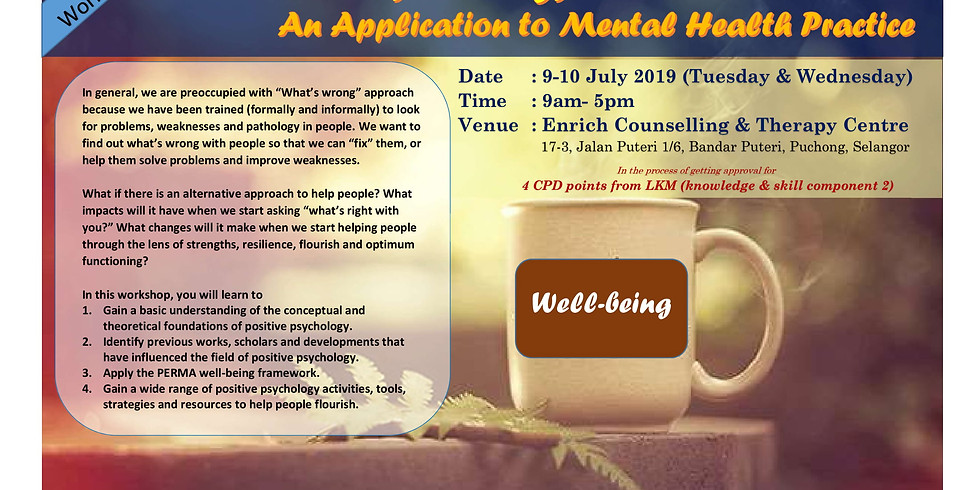 Positive Psychology: An Application to Mental Health Practice