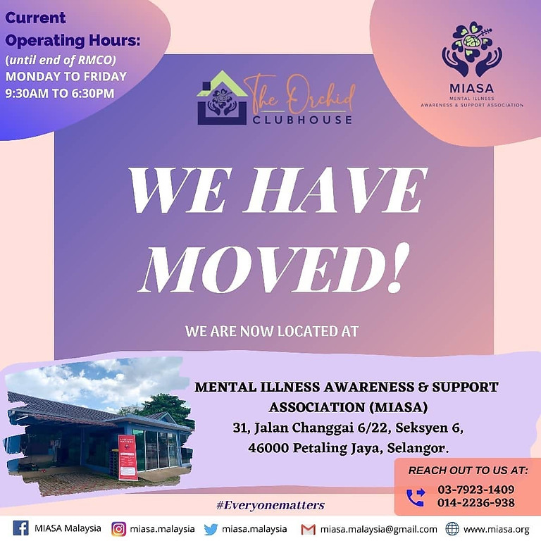 MIASA is now located at The Orchid Clubhouse