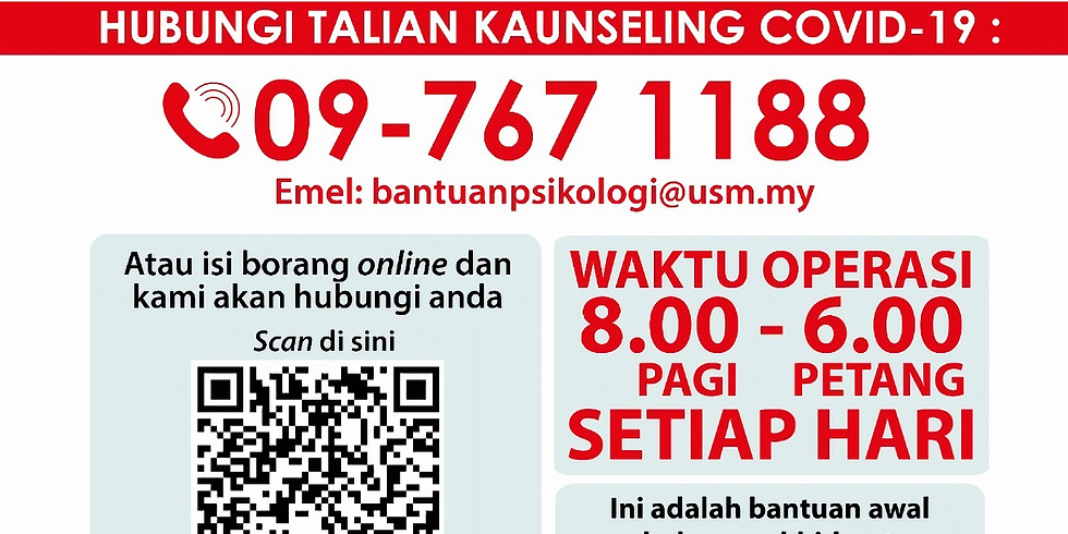Hubungi Talian Kaunseling Covid-19