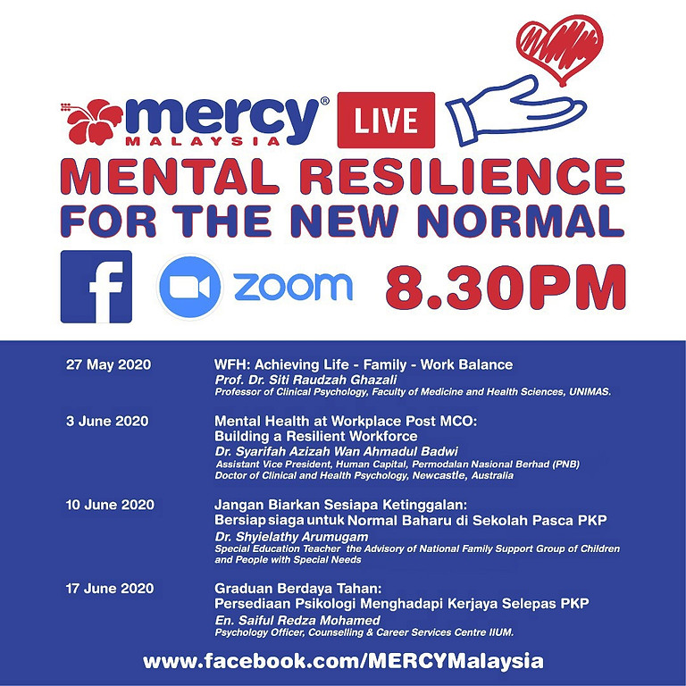 MERCY MALAYSIA: Mental resilience for the new normal