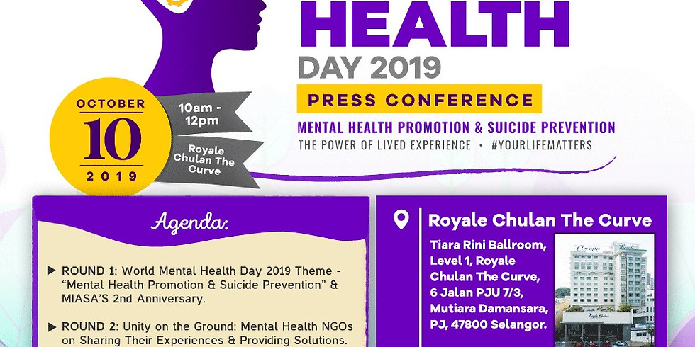World Mental Health Day 2019 (Press Conference)