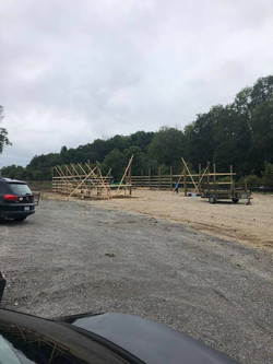 Barn being build