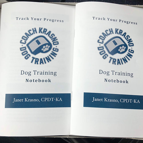 Track Your Progress, Dog Training Notebook