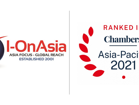 Chambers Includes I-OnAsia in 2021 Guide.