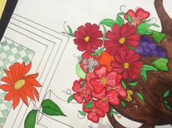 watercolor and color pencil