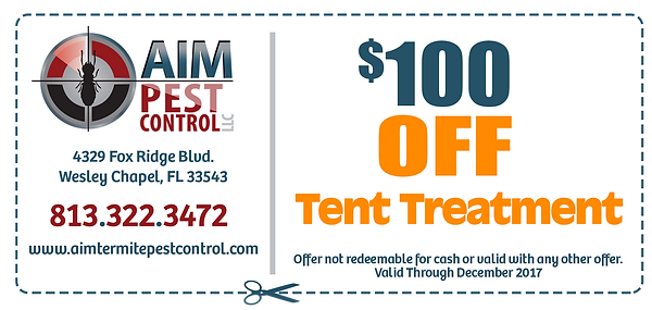 $100 off tent treatment
