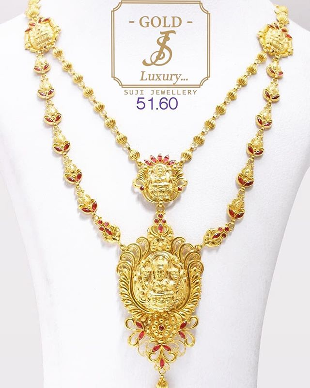 Do you need some luck on jewelry items_ 🍀🍀 Get the saraswathi Long-Neckles 😍😛 #jewerlyfashion #j