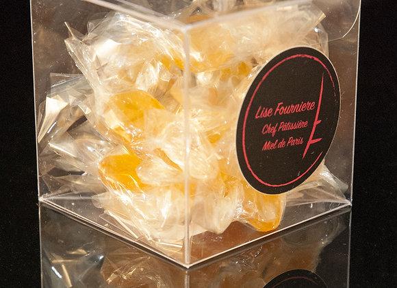 Boite de 50g de Bonbons au Miel de Paris et au Safran