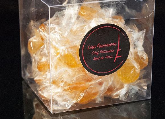 Boite de 150g de Bonbons au Miel de Paris et au Safran