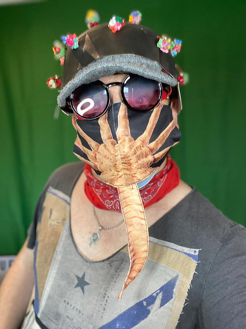 Comedy Printed Face Covering 'Face Hugger'