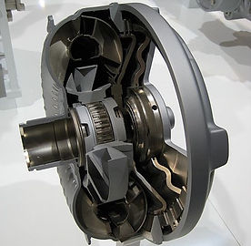 Torque convertor showing stator impellor