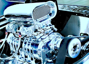 Supercharger on engine