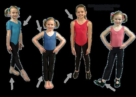 C and C Dance Modern, Tap & Jazz Uniform Beginner - Grade 4