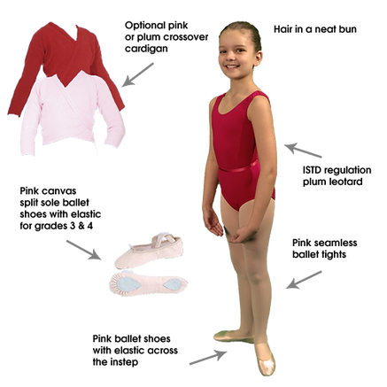 C and C Dance Ballet Uniform Grade 2 - 4