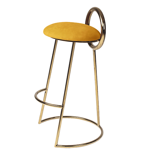 Hoop Bar Stool (gold frame)