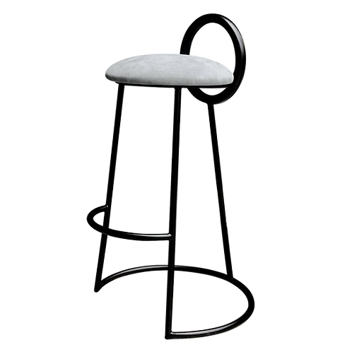 Hoop Bar Stool (matt black frame)