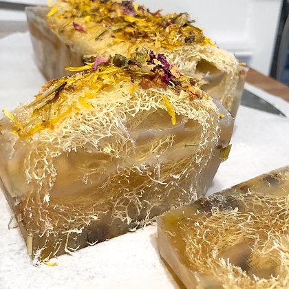 Honey Fluer Loofah Soap Bar 4oz