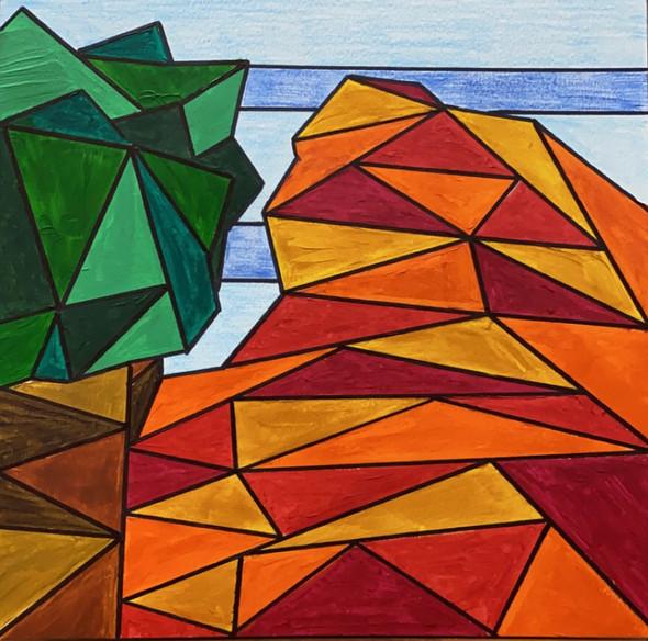 Geometric Nature   Acrylic