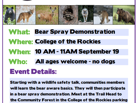 Notice from Wildsafe BC