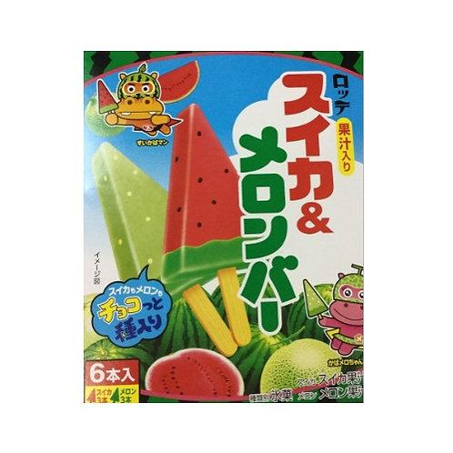 Lotte Melon & Watermelon Bar (70ml x 6 Bars)
