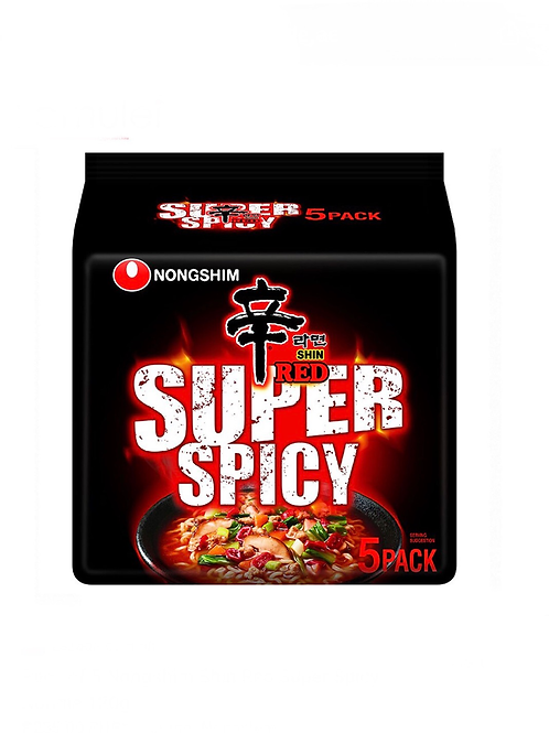 Shin Red Super Spicy Ramen (120gx5 Pieces)