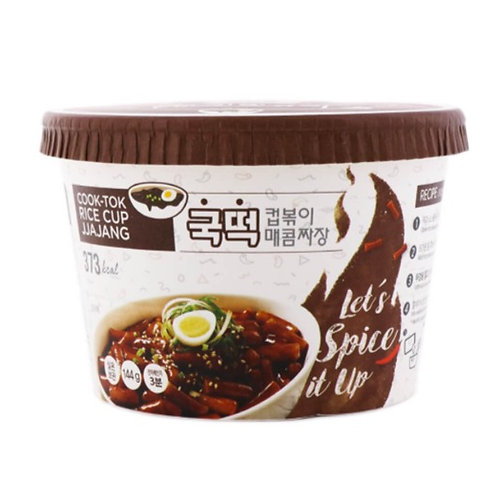 BOX    Instant Cook-Tok Rice Cup Jajang Spicy 144g x 16