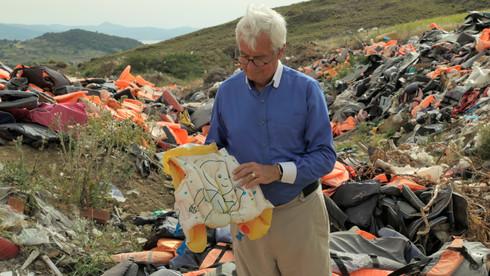 Julian Burnside Life jacket graveyard Lesvos