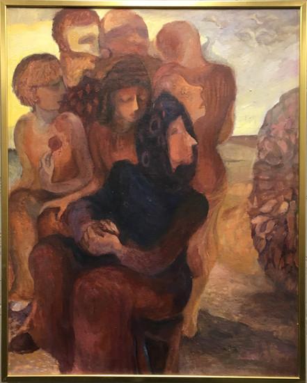 V kruhu, olej, 1985; ---.JPG