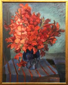 Krajina s kyticí gladiol, olej, 1999; 12