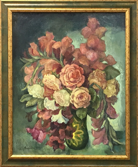 Maminčiny růže, olej, 2007; 8.000,-.JPG