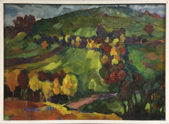 Podzim, olej, 1977; 10.000,-.JPG