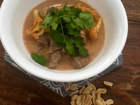 Sourced Massaman Beef with Cauliflower- low carb