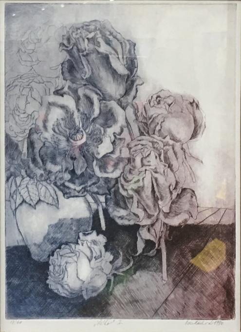 Letní podvečer, suchá jehla, 1990; 1.200