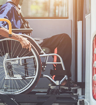 Disabled bus concept _ Disabled people s