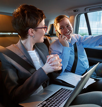 Business trip- Talking on mobile to work