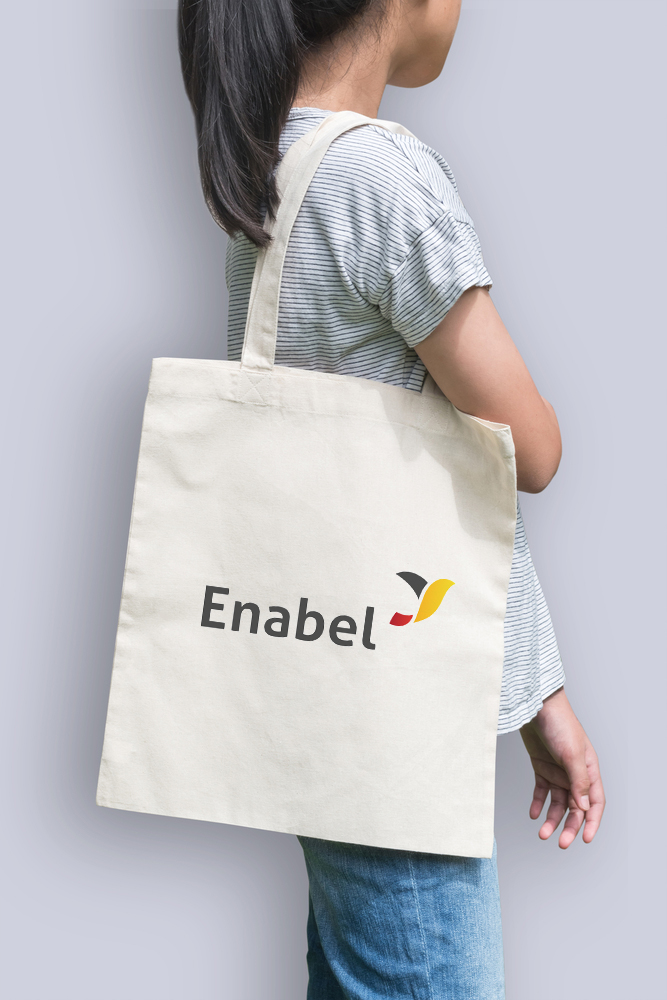 ENABEL Logo design and goods