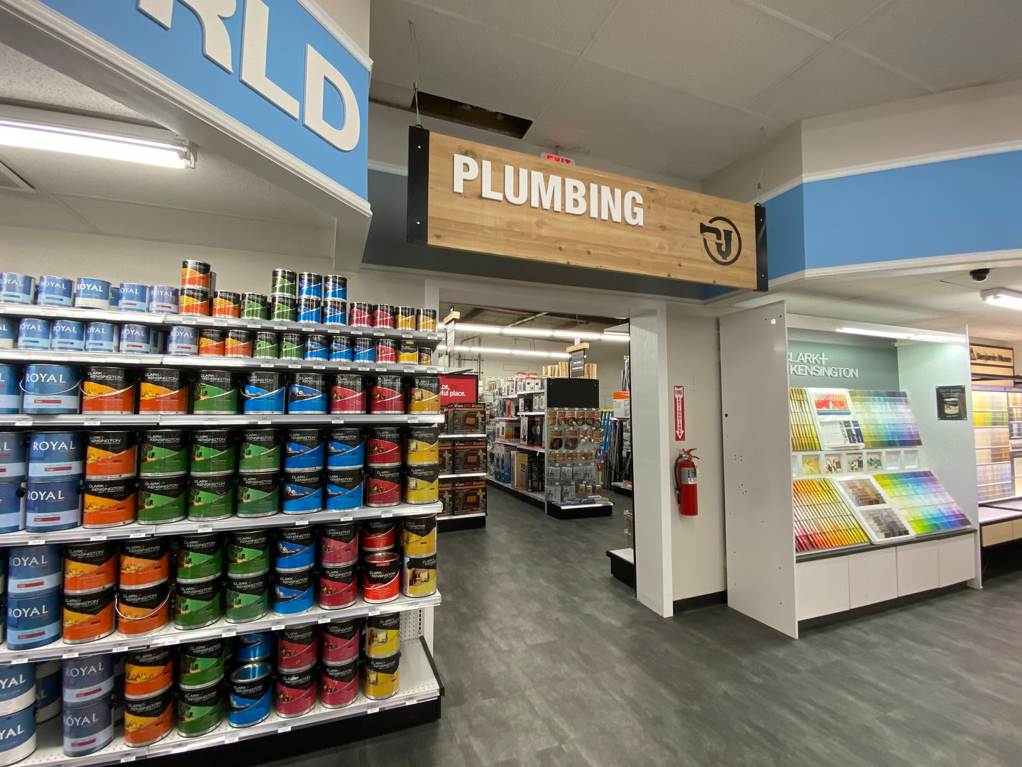 Painting and Plumbing Sections