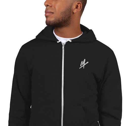 """""""Mpax"""" Embroidery Hoodie Zipper Sweater"""
