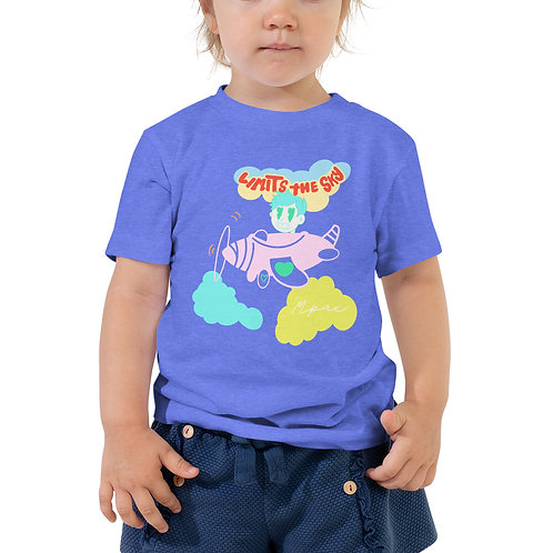 """""""Limits The Sky - HeartBeat Kid"""" Toddler Short Sleeve Tee"""