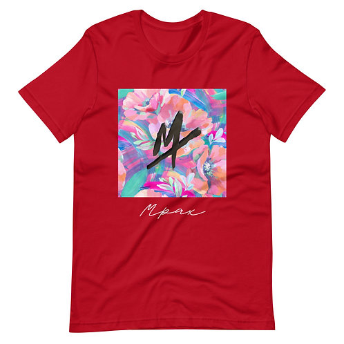 """Mpax Floral"" Short-Sleeve Unisex T-Shirt (Athletic Fit)"